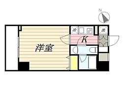 JR東北本線 尾久駅 徒歩6分の賃貸マンション 3階1Kの間取り