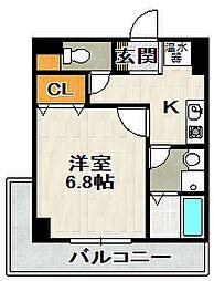 兵庫県宝塚市山本東3丁目の賃貸マンションの間取り