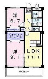 ヴェルドミール[4階]の間取り