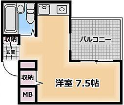 JPアパートメント守口[3階]の間取り