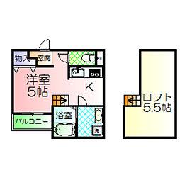 アロンゾ鳳[2階]の間取り
