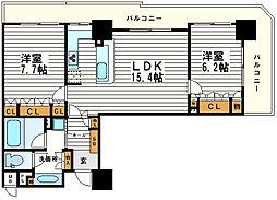 リーガル北心斎橋2[12階]の間取り