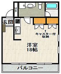 宝塚グリーンハイツ6号館[201号室]の間取り