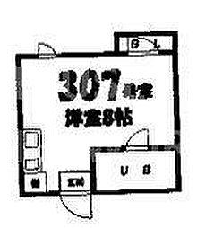 ハウス染殿I[407号室号室]の間取り