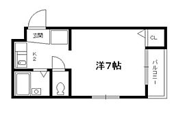 ヴィヨーム京都御所東[3階]の間取り