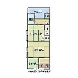 神戸市長田区長者町住宅[201号室]の間取り