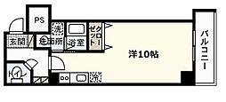 広島県広島市中区東平塚町の賃貸マンションの間取り
