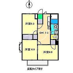 ハッピーライフ(一宮徳谷)[1階]の間取り