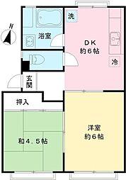ドミール大沢[2階]の間取り