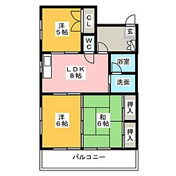 和田ビル[3階]の間取り