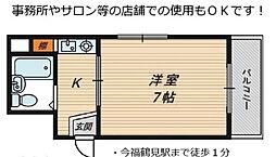 Y sコート今福鶴見[6階]の間取り