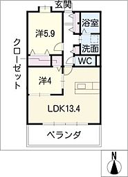 La・Miesta[1階]の間取り