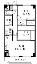 戸塚区品野町 モンヴェール東戸塚302号室[3階]の間取り