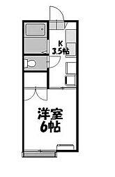 東京都町田市南成瀬6丁目の賃貸アパートの間取り