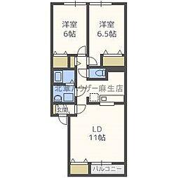 リベルテN35[2階]の間取り