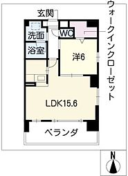 ESSE東別院[3階]の間取り