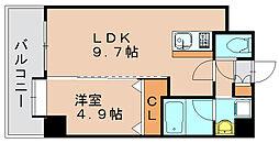アトラスアルファーノ箱崎[2階]の間取り
