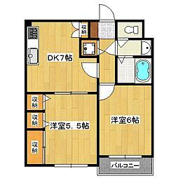 セントアミュー[1階]の間取り