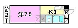 R4マンション[102 号室号室]の間取り