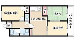 愛知県名古屋市南区明円町の賃貸マンションの間取り