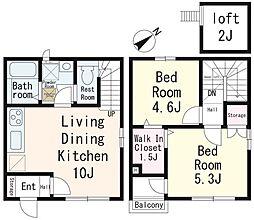 仮)鶴ヶ丘新築アパート[1階]の間取り
