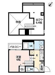 スカイハイツ 吉塚[2階]の間取り