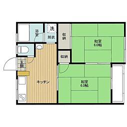 イタクラアパート5号館[3号室]の間取り