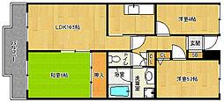 京都府京都市南区東九条西河辺町の賃貸マンションの間取り