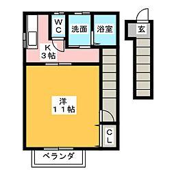 ネクスト島崎[2階]の間取り