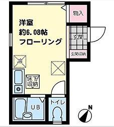 K-flat湘南[103号室]の間取り