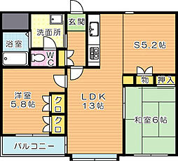 アメニス桜山寺 A棟[3階]の間取り