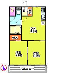 千成マンション[1階]の間取り