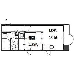 山京ガーデンハイツ西15[604号室]の間取り
