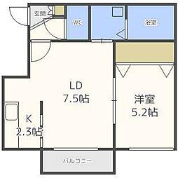 ブランノワールMIKEOS[4階]の間取り
