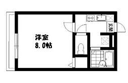 東京都江戸川区南篠崎町2丁目の賃貸アパートの間取り