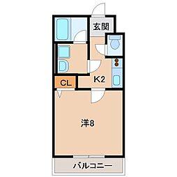 Kokochi北中島[2階]の間取り