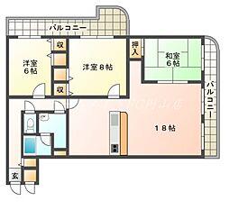 北海道札幌市中央区北五条西27丁目の賃貸マンションの間取り