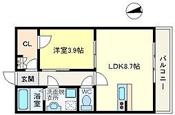 レジデンス垂水五色山[1階]の間取り