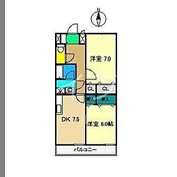 高そねマンション[4階]の間取り