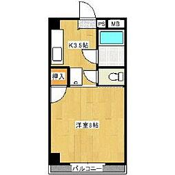 シティハイツ古賀[3階]の間取り
