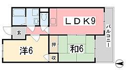ウイング姫路西庄[402号室]の間取り