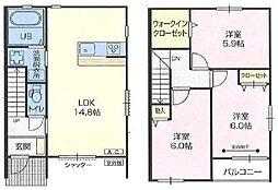 [テラスハウス] 埼玉県さいたま市緑区三室 の賃貸【/】の間取り