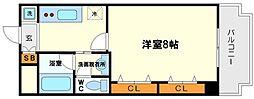 サンフラッツ新大阪(別館)[3階]の間取り