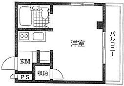 柳田ビル[303号室]の間取り