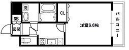 大阪府東大阪市高井田西6の賃貸マンションの間取り