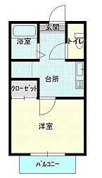 サクセション2[2階]の間取り