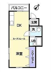 埼玉県鶴ヶ島市大字下新田の賃貸アパートの間取り