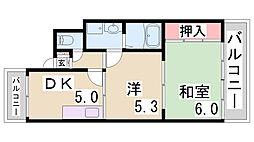 大森マンション[201号室]の間取り