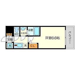 エスリード新大阪ヴェルデ 12階1Kの間取り
