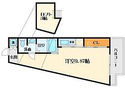 フォレステージュ江坂公園[12階]の間取り